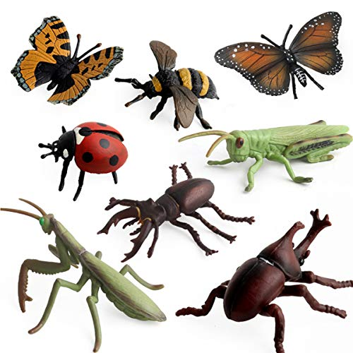 HiPlay Insect Toy Figures 8 Packs Set-Realistic Design