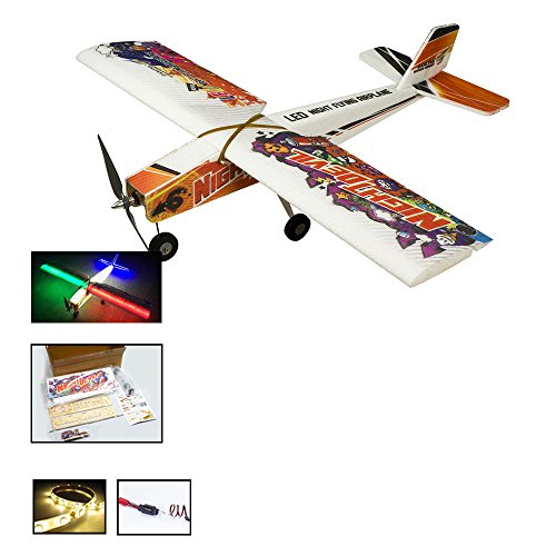 E1301 RC EPP Foam Model Electric LED Airplane Night Devil for Night Flying Wingspan 1000mm Remote Controlled Aircraft KIT