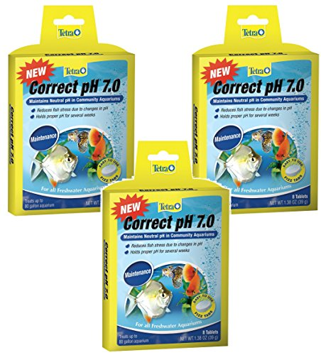 Image of Tetra Correct pH Tablets - 24 Tablets Total (3 Packs with 8 Tablets per Pack)