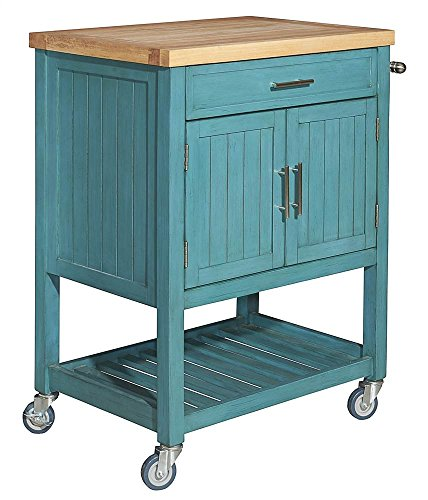 Kitchen Cart in Teal Finish