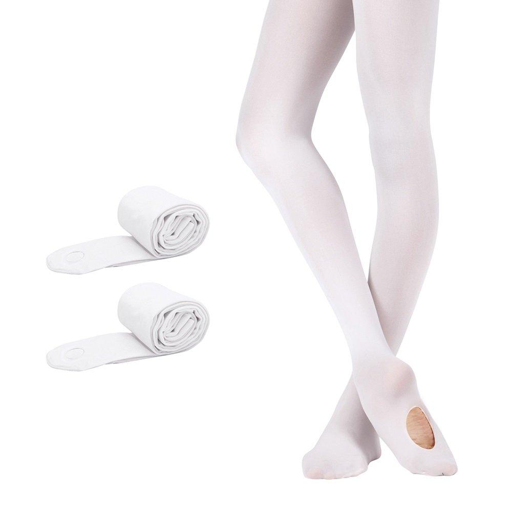 Bezioner Collant da Balletto Convertibili Calze da Danza per Ragazze Donna