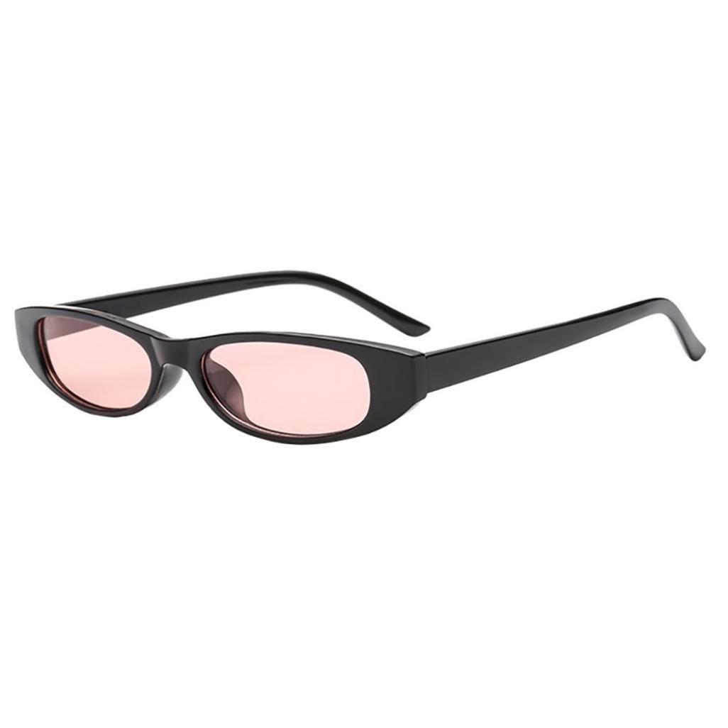 2018 Sunglasses,Sunfei  Retro Vintage   Clout Cat Rapper Oval Shades Grunge Glasses Unisex Sunglasses (C)