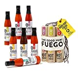 The Good Hurt Fuego: Sampler Pack of 7 Different Hot Sauces Inspired by Exotic Flavors and Peppers from Around the World - A Hot Sauce Lover's Gift Set
