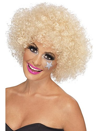 Smiffys Women's 70's Funky Blonde Afro Wig, One Size, 120g, 5020570420188