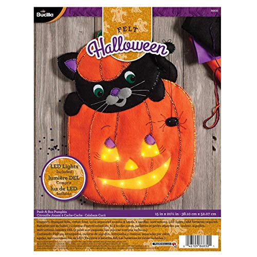 Bucilla 86830 Peek-A-Boo Pumkin Wallhanging Kit