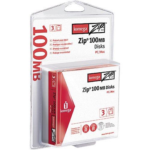 Iomega 3PK Zip 100MB CLAMSHELL PC/MAC (32603) Blank Media & Cleaning Cartridges