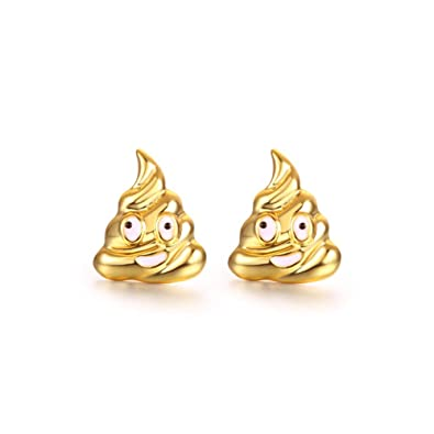 81f70fdb23075 CHUYUN Trendy Poop Emoji Smile Face Stud Earrings for Women Gold Silver  Rose Gold Color Emoji Earrings Jewelry Gifts