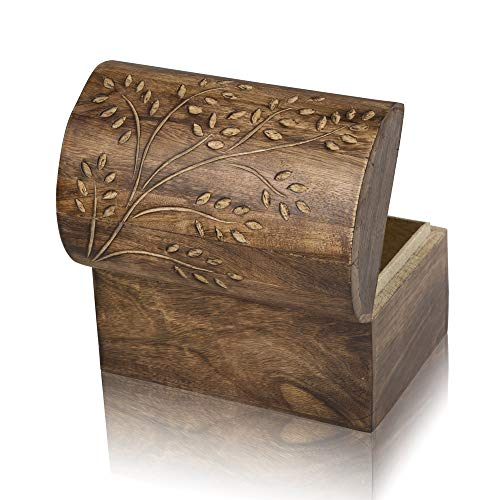- Great Birthday Gift Ideas Handmade Decorative Wooden Jewelry Box Treasure Box Jewelry Organizer Keepsake Box Treasure Chest Trinket Holder Lock Box Watch Box 9 x 6 Inch Her
