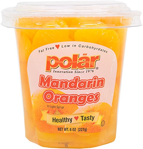 - MW Polar Fruit Cup, Mandarin Orange Segments in Light Syrup with Spork, 8-Ounce (Pack of 12)