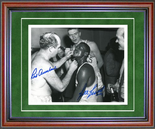 Bill Russell And Red Auerbach Autographed Framed 8x10 Photo
