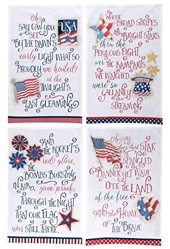 Kay Dee Designs Star Spangled Banner Tea Towels, Set of 4 Assorted