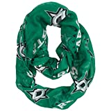 NHL Dallas Stars Sheer Infinity Scarf, One Size, Green