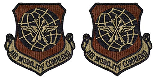 USAF Air Mobility Command OCP Spice Brown Patch with Hook Fastener-2 Pack