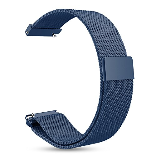 Fintie for Gear Sport/Galaxy Watch 42mm Band, 20mm Milanese Loop Adjustable Stainless Steel Replacement Strap Wrist Bands for Samsung Galaxy Watch Active/Gear S2 Classic Smartwatch, Navy