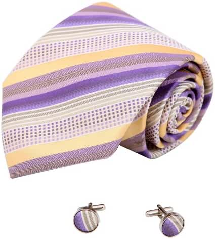 YAB2A15 Multicolored Stripes Excellent Formal Wear Silk Ties 2PT By Y&G