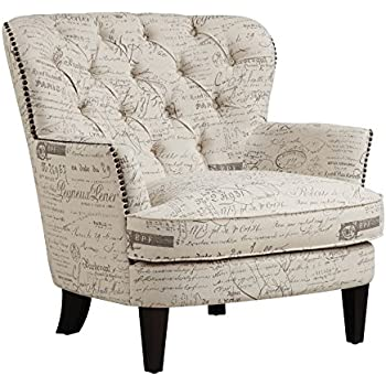 Amazon Com Homelegance Barlowe Fabric Flared Accent Chair