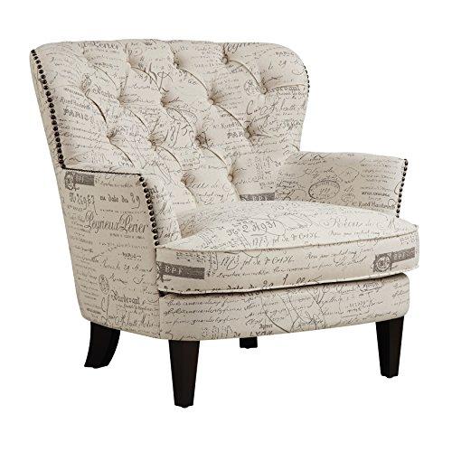 Pulaski Paris Script Button Tufted Accent Arm Chair, 34