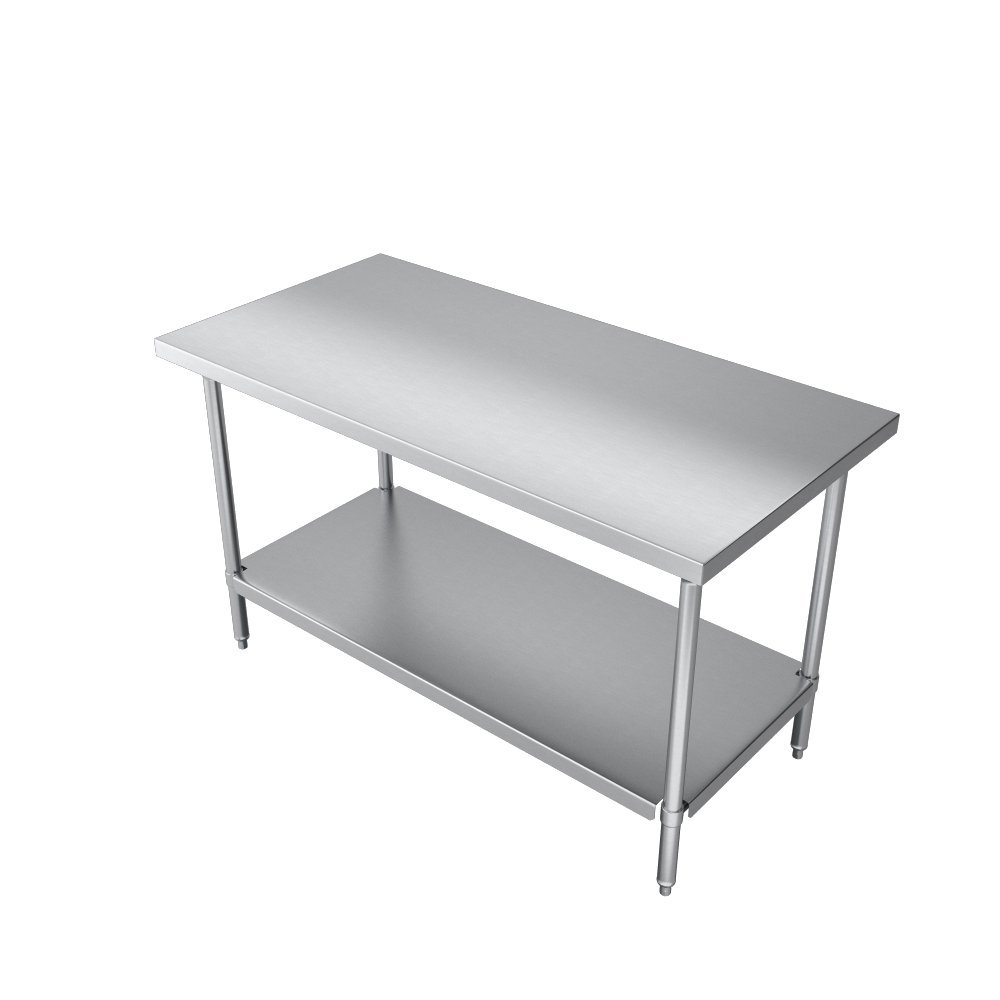 Elkay Commercial Grade NSF Stainless Steel Table with Adjustable Height Feet and Undershelf, 36'' x 24'' by Elkay Foodservice (Image #5)