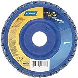 Norton Twinstar Abrasive Flap Disc, Type 27, Round Hole, Plastic Backing, Ceramic/Zirconia Alumina