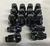 M10x1.25 (Black) Tapered Lug Nuts 16 Pack