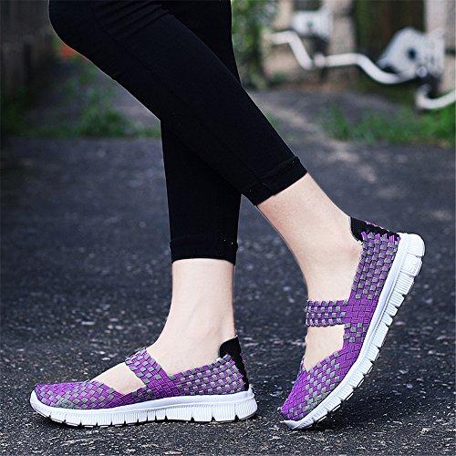 Purple para 075 Mujer FZDX Zapatillas wYFOO