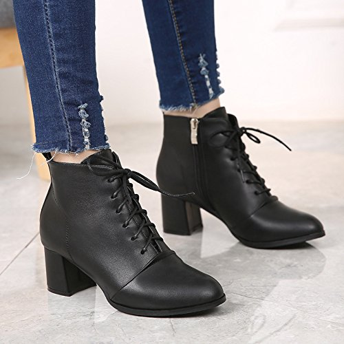 Boots Thick And Heeled Suede High KPHY Thick Martin Martin Strap Casual four Shoes With Thirty Boots With Boots pqn1FBwH