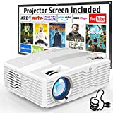 DR. J Professional Native 1080P LED Projector Full HD 6000 Lumens Projector with 300