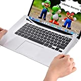 ChasBete Palm Rest Full Cover fits Macbook Pro Retina 13 inches Ultra Thin Body Sticker Skin with Trackpad Durable Protector Decal for Model Old 13.3 Pro with Retina Display A1425/A1502 Silver
