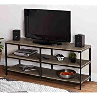 Simple Living Piazza Contemporary Look MDF and Metal Construction Natural Finished Entertainment Stand ( 24 Inches High X 55 Inches Wide X 16 Inches Deep)