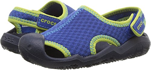 Crocs Kids' Swiftwater Sandal,Blue Jean/Navy,8 M US (8 Kids Footwear Sandals)