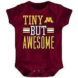 NCAA Minnesota Golden Gophers Newborn & Infant Tiny But Awesome Bodysuit, Garnet, 18 Months