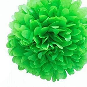 Annong 1PCS Wedding Tissue Paper Flower Ball Outdoor Decoration Paper Crafts Pom Poms (Green)
