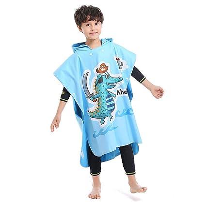 Toalla con capucha para niños Poncho cambiante con dinosaurio y toldo de dinosaurio para niños,