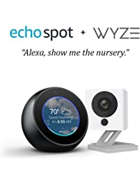 Echo Spot bundle with Wyze Cam 1080p HD Smart Camera - Black