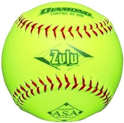 ZULUBALL12 - Juego de 12 pelotas de softballs con diamante Zulu ...