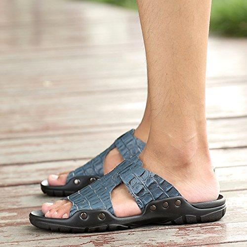 @Sandals Nuevo Estilo De Verano Hombre De Zapatos, Zapatillas, Sandalias O Zapatos,44,Azul 44|blue