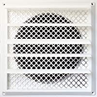 New Aroma Trees Dryer Vent Bird Stop - Dryer Vent Grill - Pest Guard - Stops Birds Nesting In Dryer Vents and Bathroom Exhaust Vents Pipe, Customizable 3 - 8 Louver Vent Hood Cover Guard