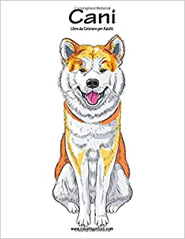 Amazoncom Cani Libro Da Colorare Per Adulti 1 Volume 1 Italian