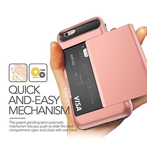 Coque iPhone 6S/6, VRS Design [Damda Glide][Or Rose] - [Porte coulissante semi-automatique][Housse de Protection][Fente pour Carte][Anti Scratch Etui][Anti Chocs Case] Pour Apple iPhone 6S/6 4.7'