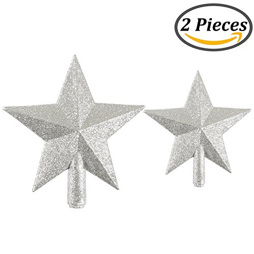 Resinta Glittered Christmas Tree Topper Star Topper for Christmas  (Large Image)