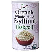 Jiva USDA ORGANIC Whole Husk Psyllium (Isabgol) 12-Ounce Can