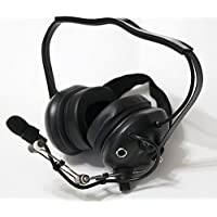 Noise Cancelling Pilot VOX PTT Headset for KENWOOD PUXING WOUXUN with MiNi DIN BLACK