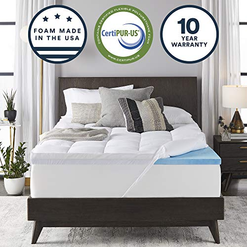 Sleep Innovations Gel Memory Foam 4 Inch Dual Layer Mattress Topper King Made In The Usa With A 10 Year Warranty