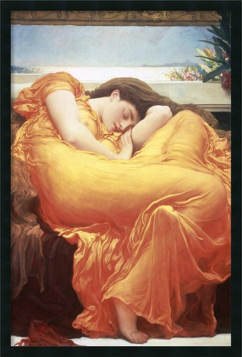 Framed Art Print, 'Flaming June' by Lord Frederic Leighton: Outer Size 25 x 37