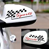 Indiashopers Sports Auto Rear View Mirror Windows, Sides, Hood, Bumper Car Sticker