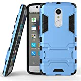 ZTE Axon 7 mini Case,Gift_Source [Kickstand] Hybrid Dual Layer Armor Defender Full Body Protective Case Soft TPU and Hard PC Rugged Case Shockproof Cover For ZTE Axon 7 mini [Blue]