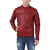 LEATHER FASHION Men's Faux Leather Jacket