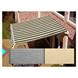 AWNTECH 10 ft. Maui Motorized Left Side Retractable Awning (96 in. Projection) in Gray