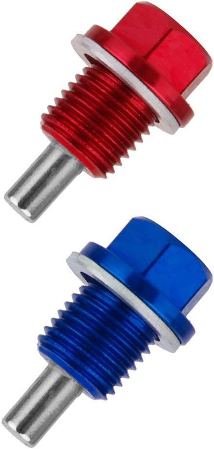 balikha 2x Tappo Di Scarico Olio Magnetico M14X1,5 Coppa Olio Motore Blu