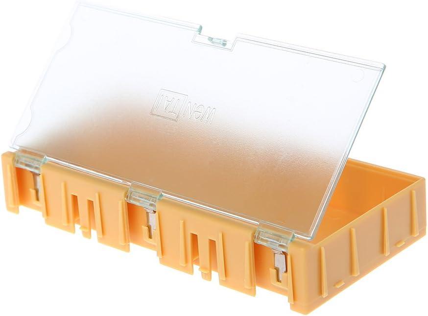 Rtengtunn Mini SMD SMT Electronic Box IC Componentes electr/ónicos Estuches de Almacenamiento 125x63x21mm
